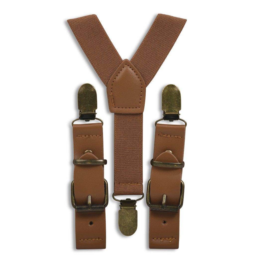 Cognac Brown Buckle Suspenders