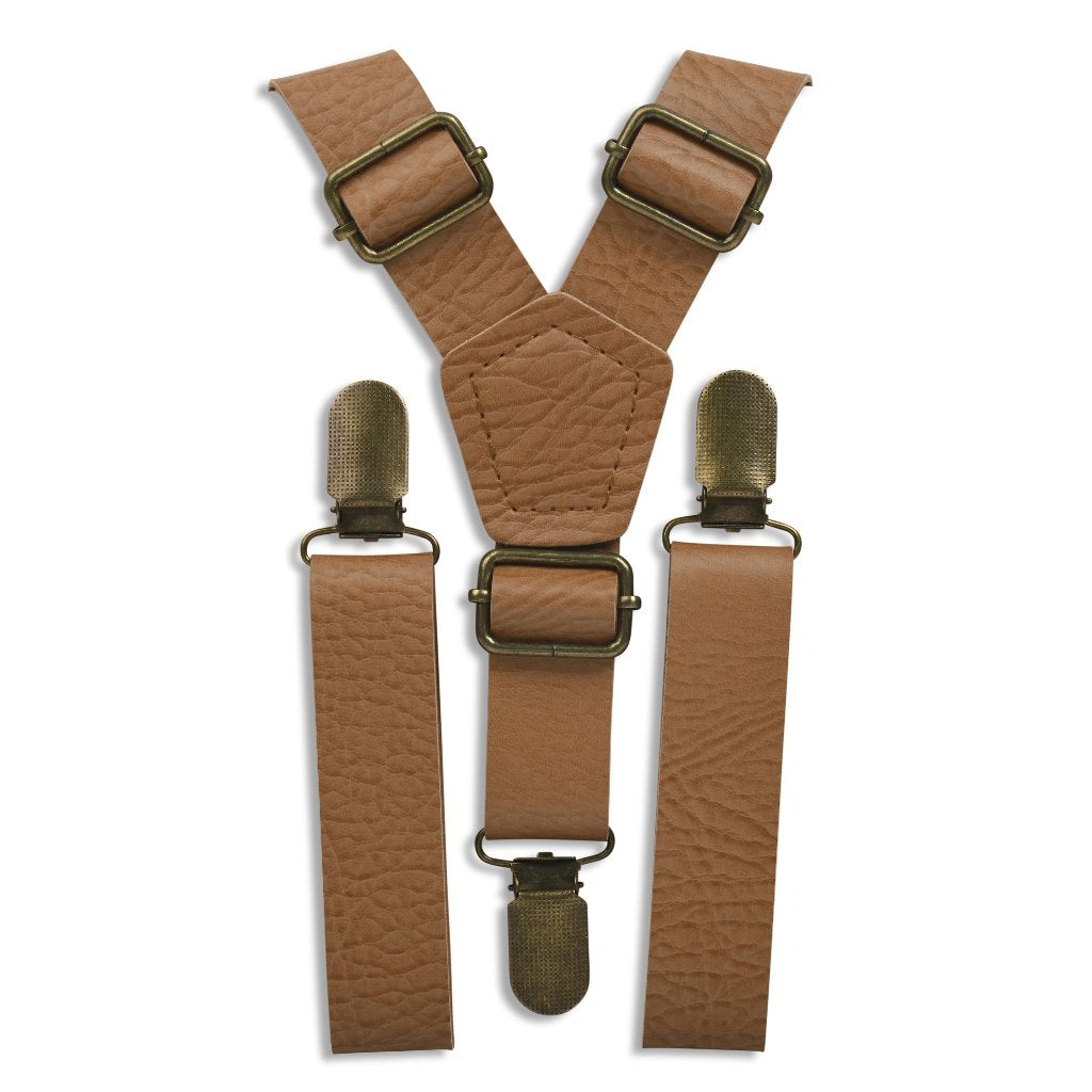 Vintage Tan Suspenders