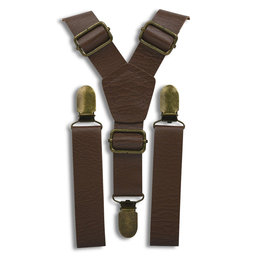 Weathered Coffee Suspenders