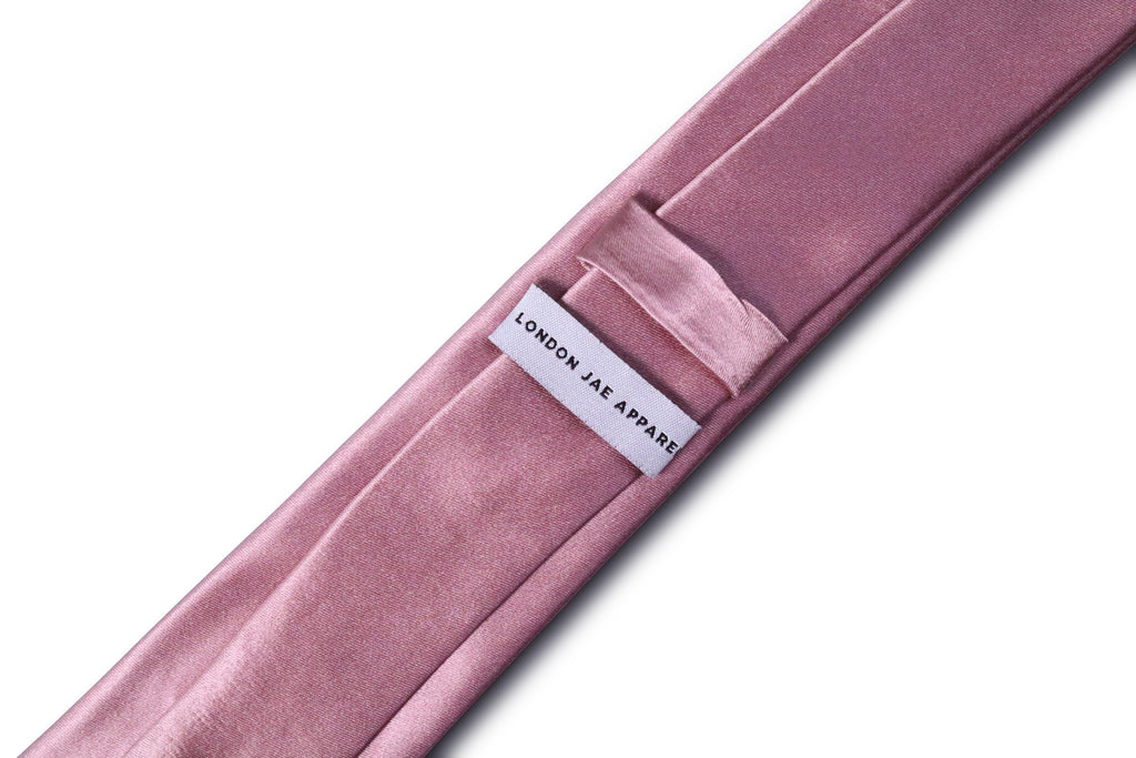 Dusty Mauve Skinny Silk Neck Tie