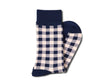 Navy Gingham Socks