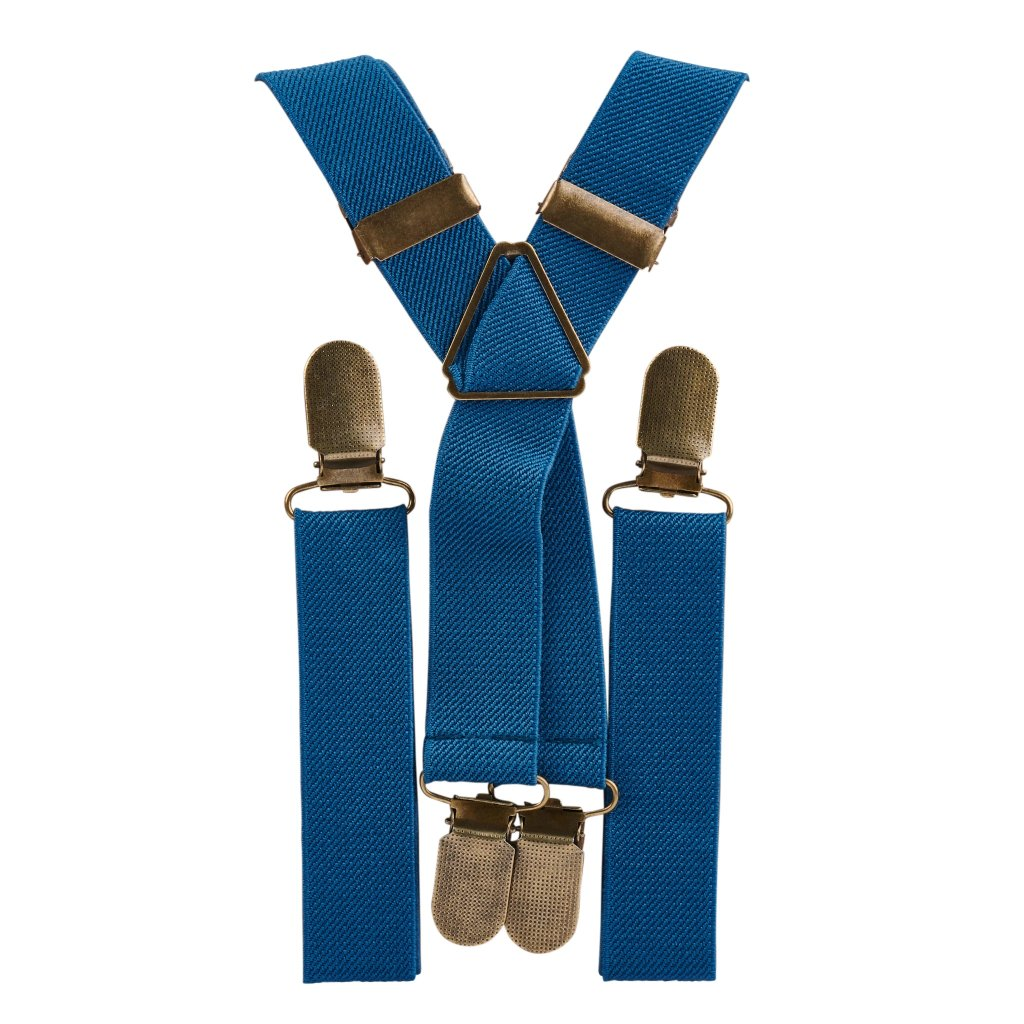Air Force Blue Elastic Suspenders