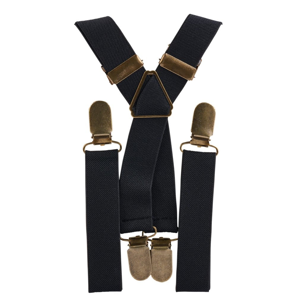 Black Elastic Suspenders