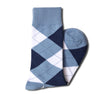 Dusty Blue Argyle Socks