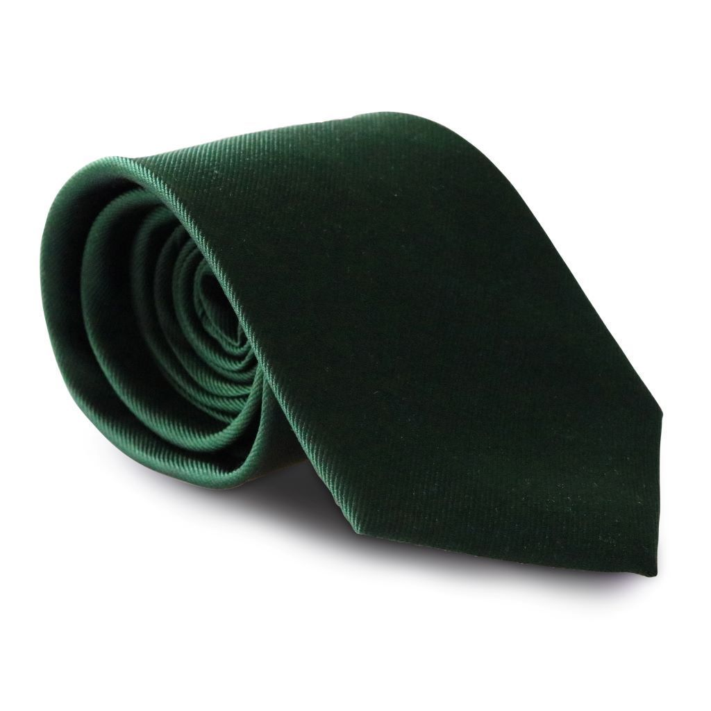 Dark Emerald Green XL Silk Neck Tie