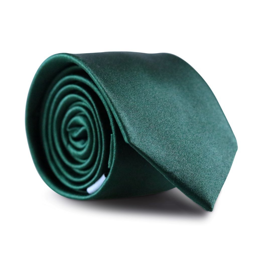 Dark Emerald Green Skinny Silk Neck Tie