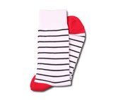 White with Black Stripes Socks