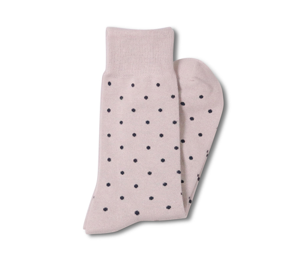 Grey with  Black Dots Socks