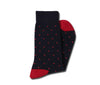 Navy with Red Dots Socks