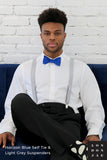 Horizon Blue Silk Self-Tie Bow Tie