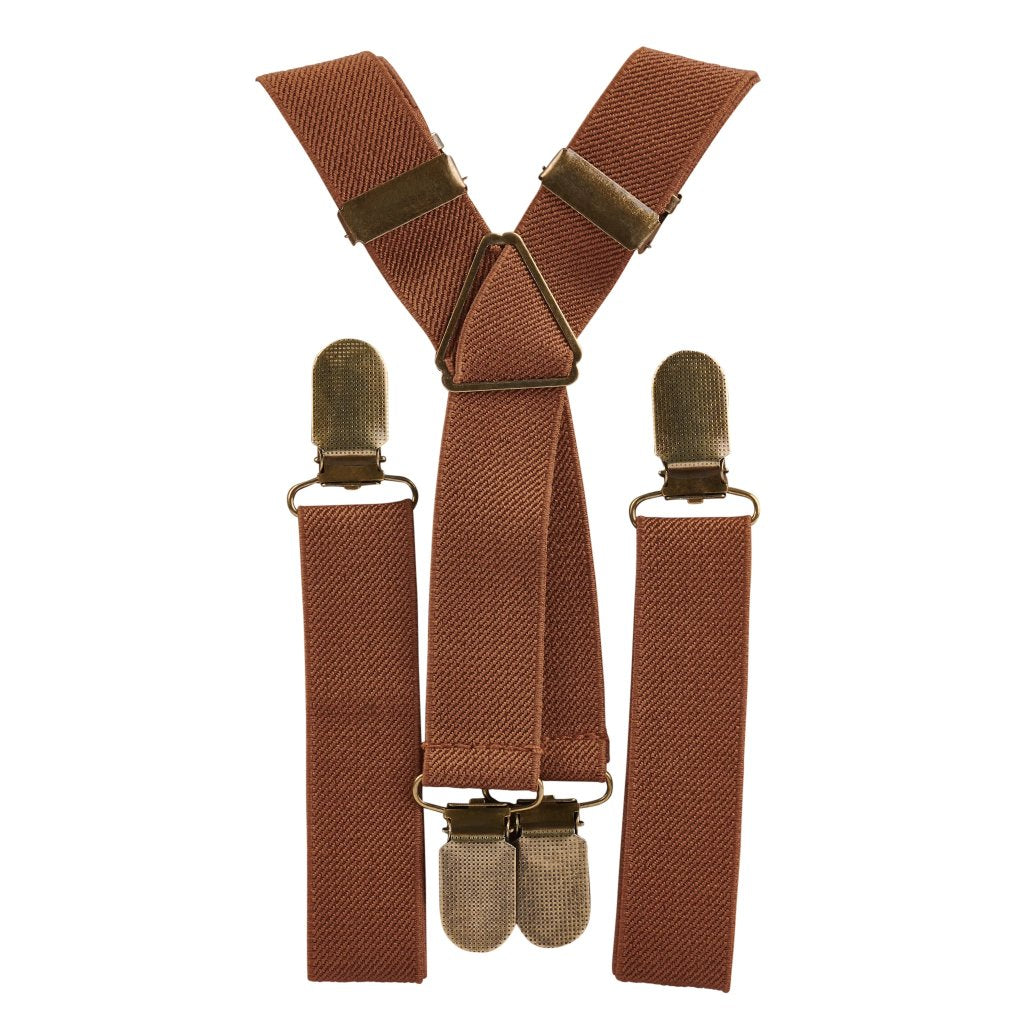 Light Brown Elastic Suspenders