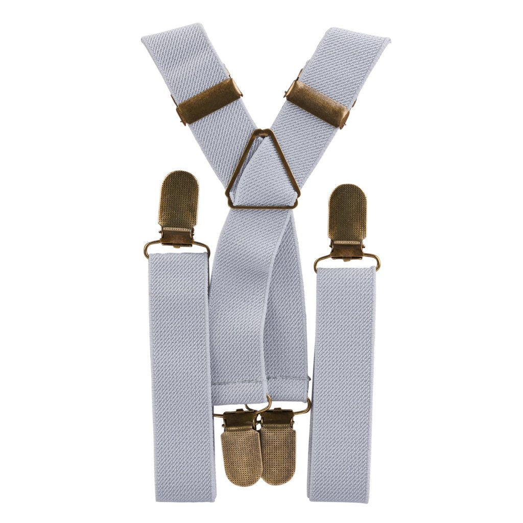 Light Grey Elastic Suspenders