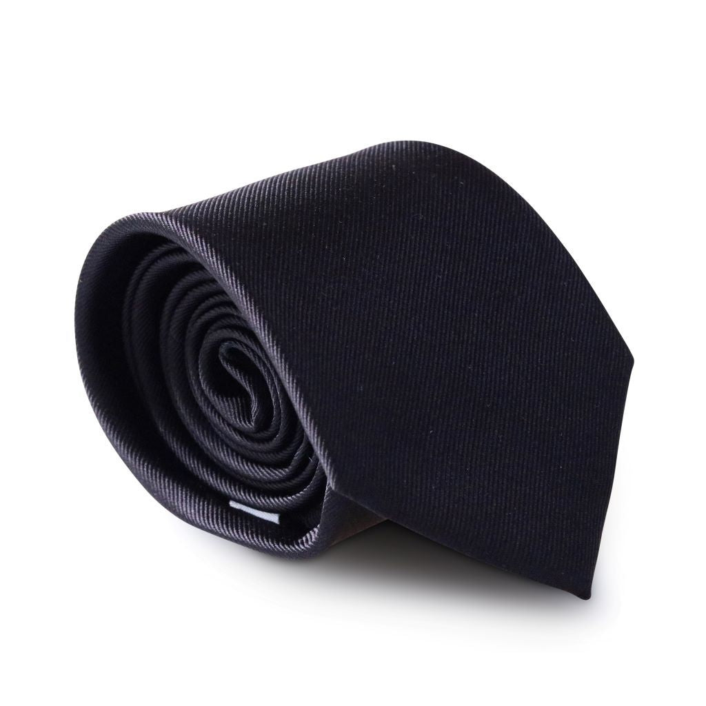 Midnight Black XL Silk Neck Tie