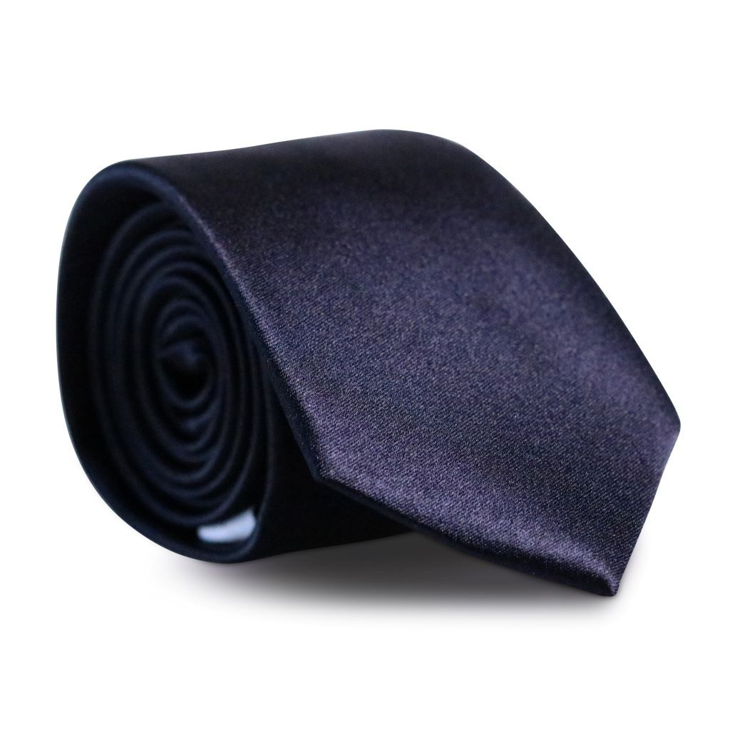 Midnight Black Skinny Silk Neck Tie