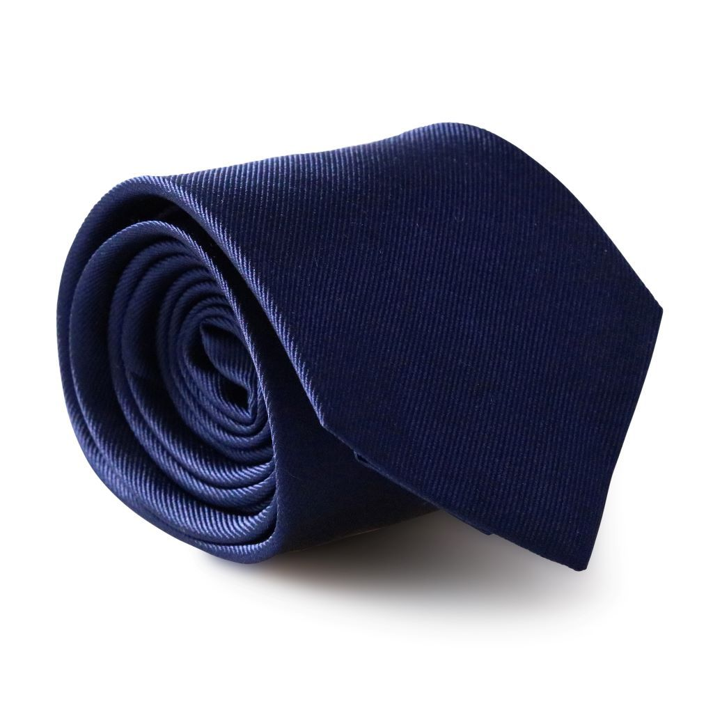 Navy Blue XL Silk Neck Tie