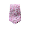 Pink and Light Brown Floral Neck Tie