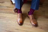 Burgundy with Pink Dots Socks
