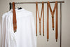 Caramel Suspenders with Snap Hook