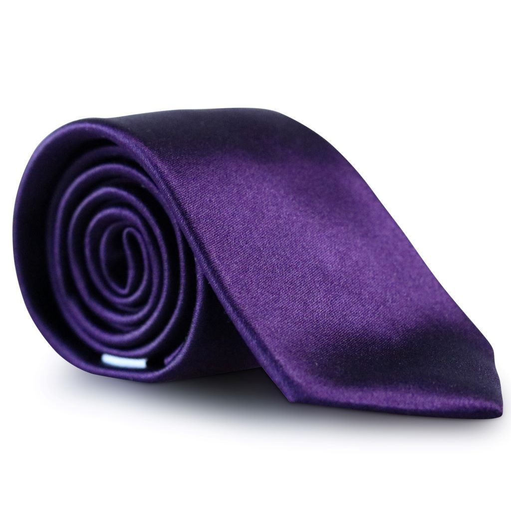 Plum Purple Skinny Silk Neck Tie