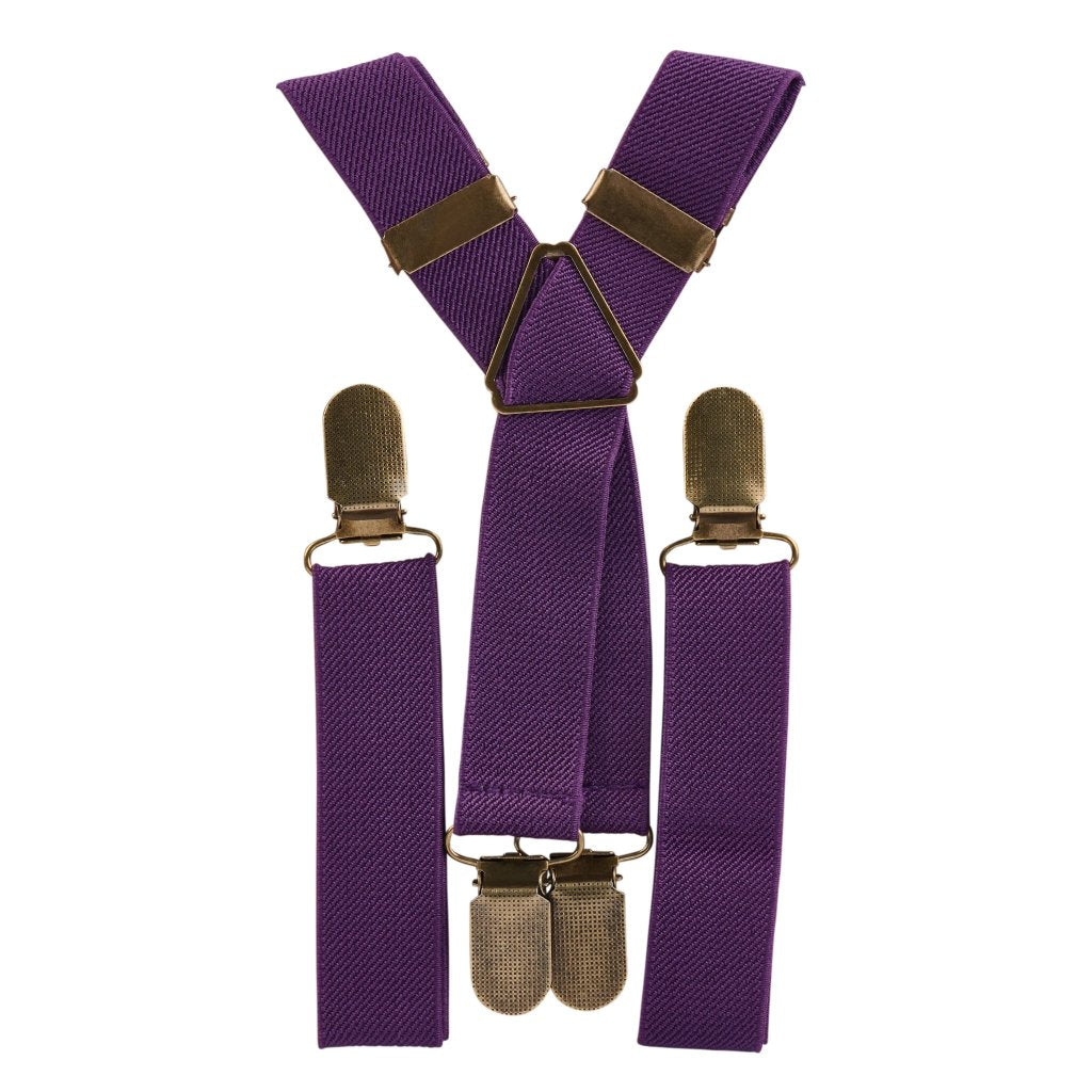 Purple Elastic Suspenders