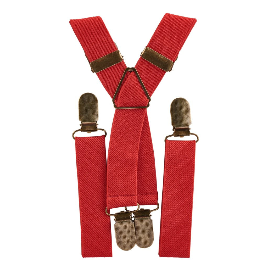 Red Elastic Suspenders
