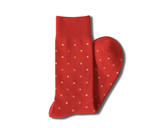Red With Orange And Red Sock