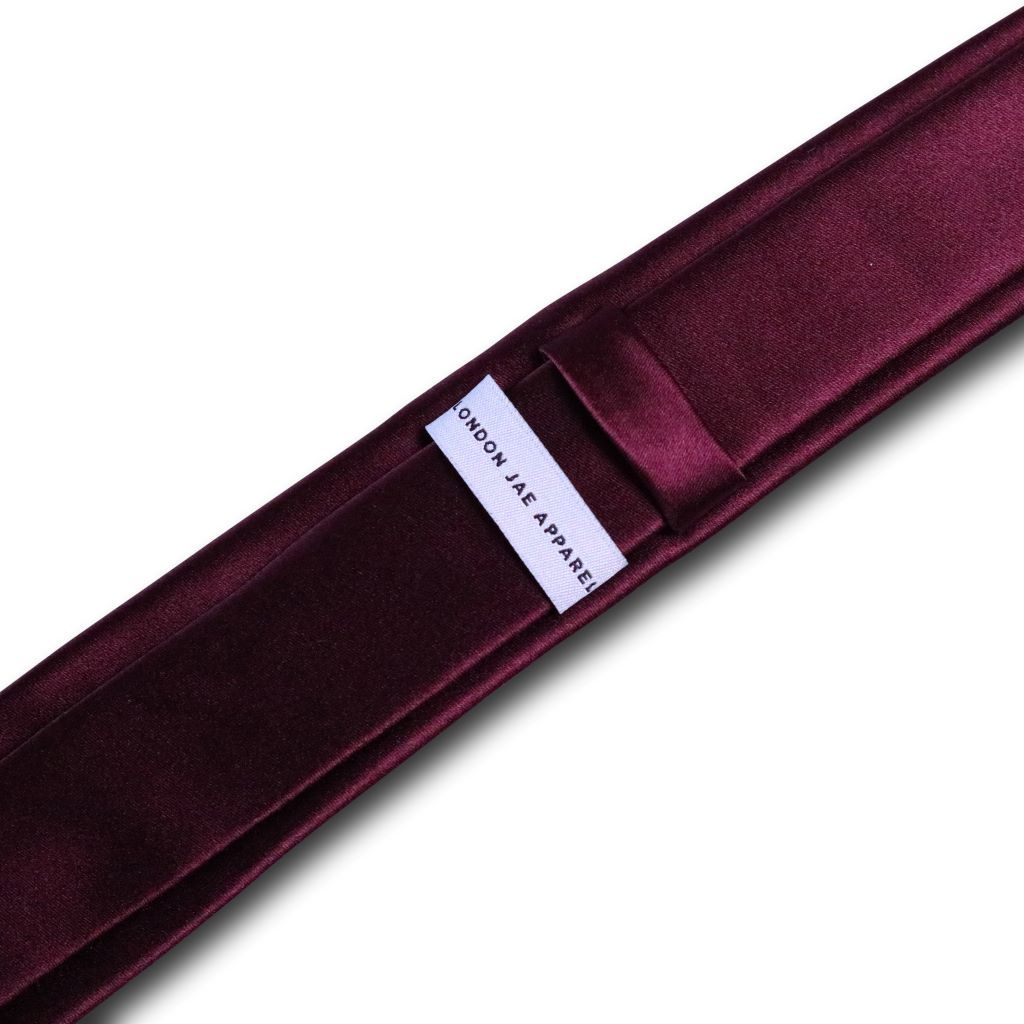 Burgundy Wine Skinny Silk Neck Tie