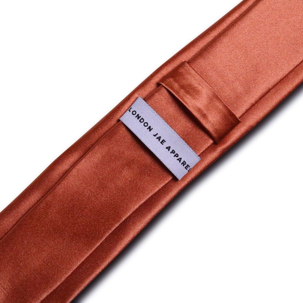 Sunset Orange Skinny Silk Neck Tie