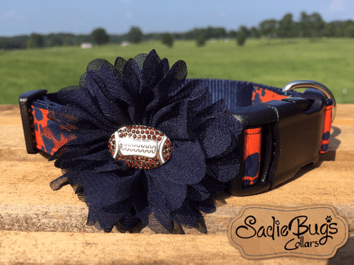 Auburn Tigers Navy flower with football center