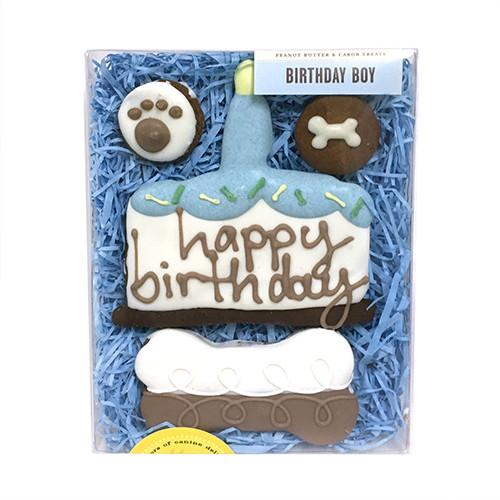 Birthday Boy Dog Treat Box