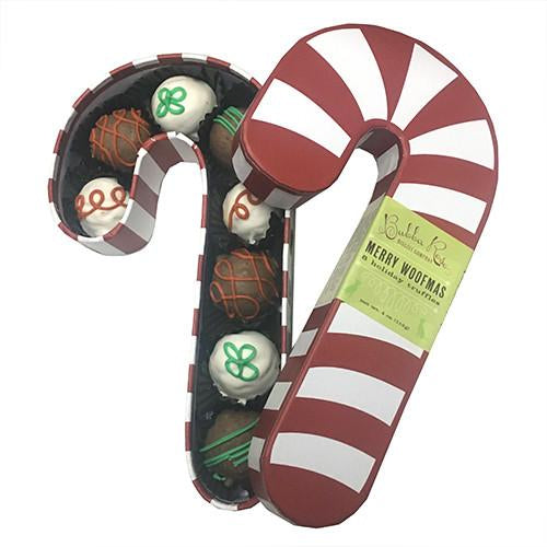 Candy Cane Dog Treat Box
