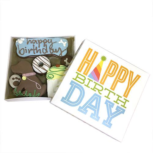 Happy Birthday Party Dog Treats Box