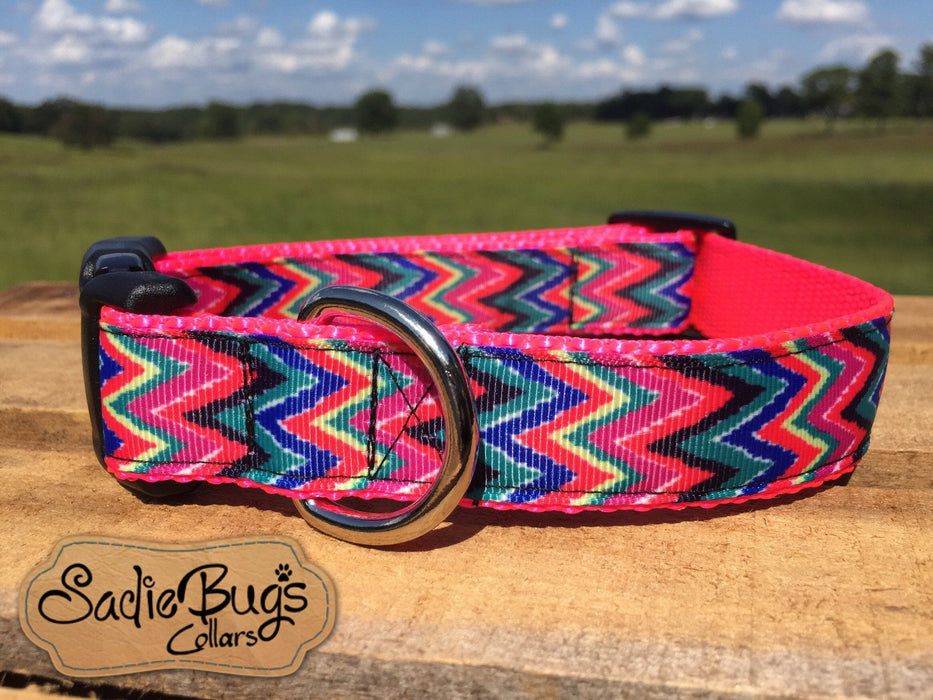 Chevron dog collar, modern dog collar, quick release dog collar
