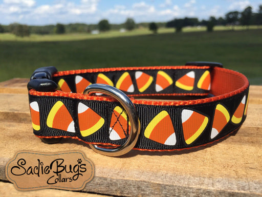 Candy Corn large dog collar - Fall / Halloween