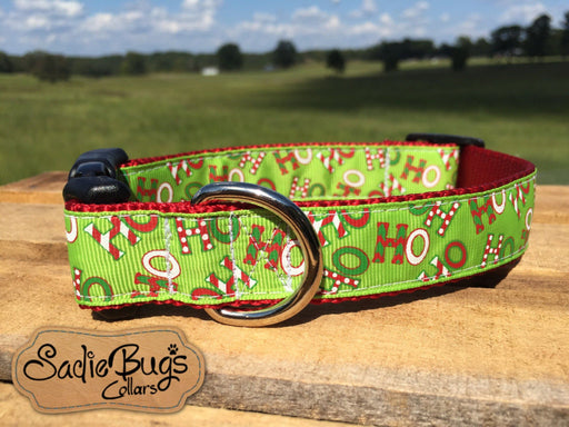 Ho Ho Ho dog collar - Christmas
