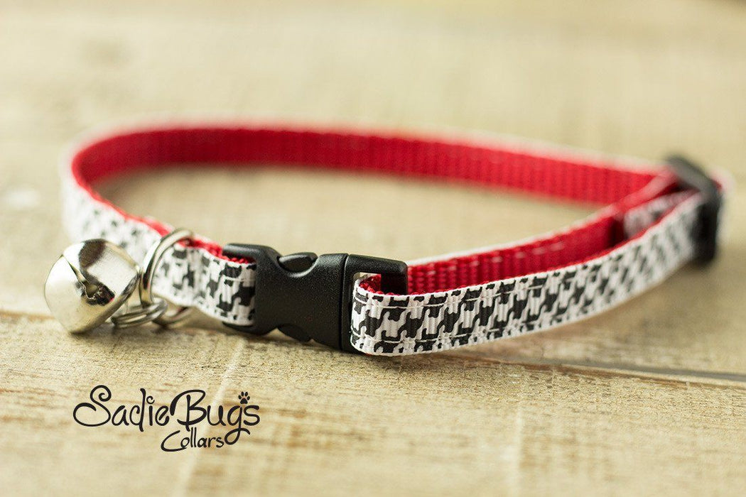 Houndstooth cat collar