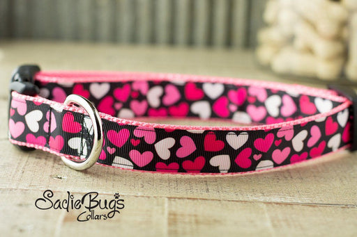 Heart Valentines dog collar