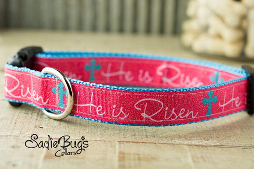He Is Risen dog collar - Easter Dog Collar