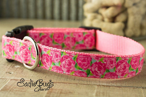 Rose dog collar - Spring and Summer
