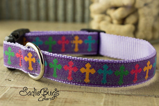 Easter dog collar - Cross