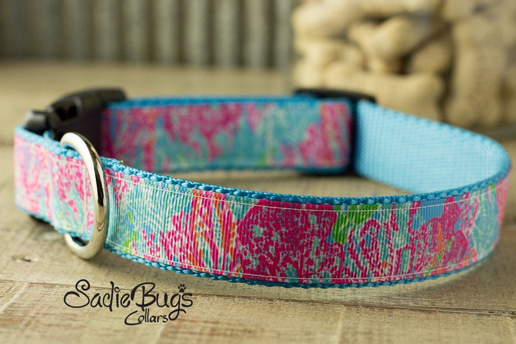 Spring lily inspired dog collar - Summer, la playa