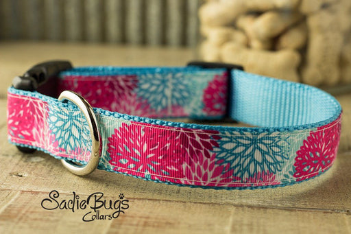 Spring Dahlia dog collar - Summer