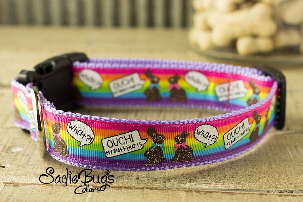 Chocolate Easter bunny dog collar - Easter & Spring