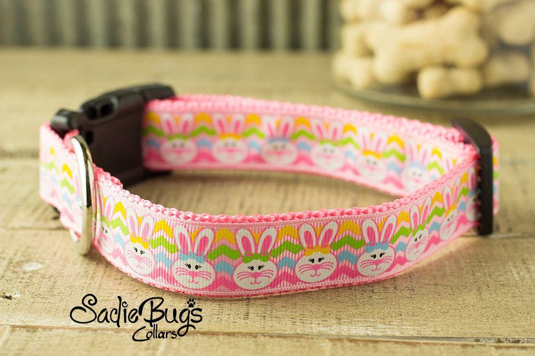 Easter bunny dog collar - Easter & Spring - chevron print