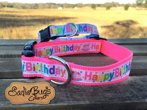 Happy Birthday dog collar