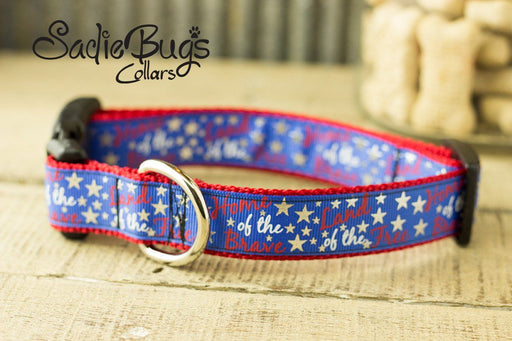 Home of the Brave Dog Collar - Independence day dog collar