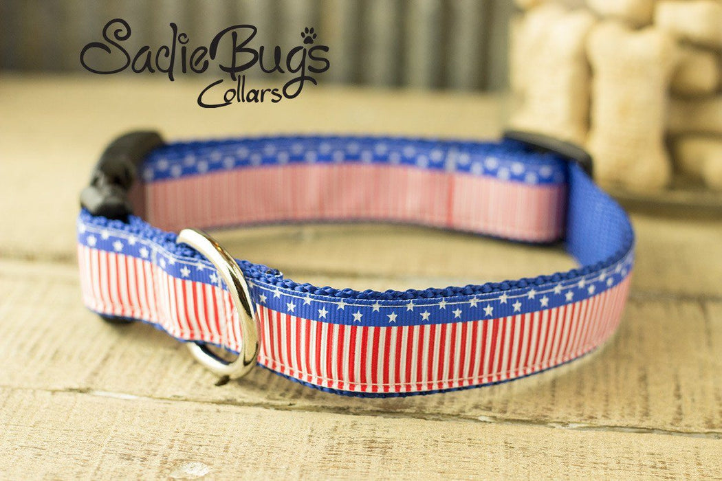 American Flag Dog Collar - Independence day dog collar