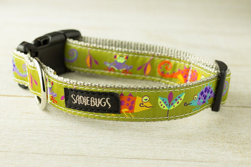 Jungle dog collar, lizard dog collar