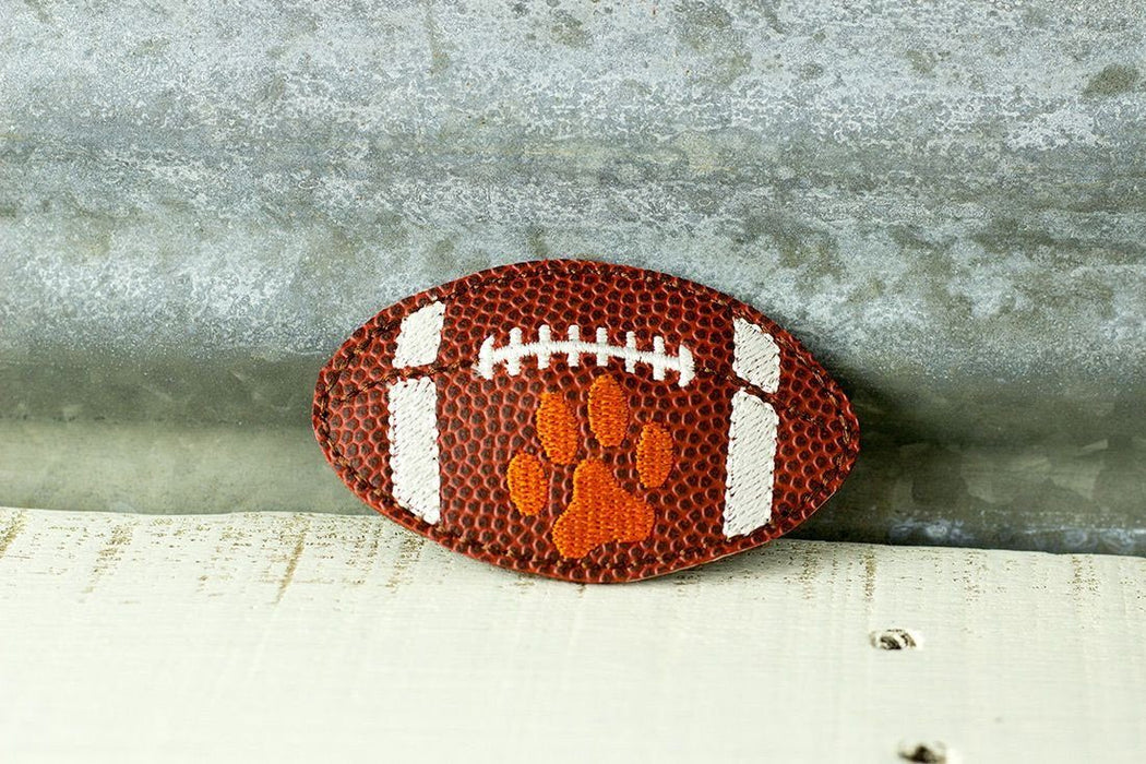 Football with paw print - Dog Collar Accessory
