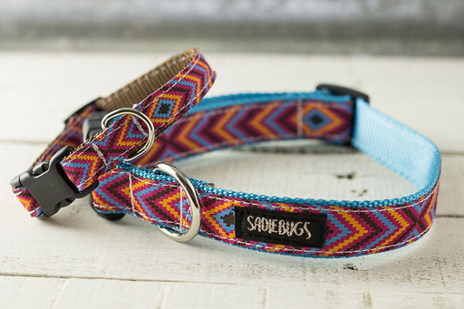 Aztec chevron dog collar